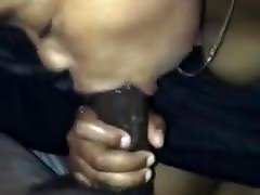 Pretty Ebony Teen Gives Wet Blowjob