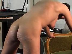 Incredible homemade BDSM, Brunette porn scene