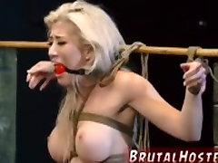 Brutal bound curved pen Big-breasted ash-blonde sweetheart Cristi Ann is on