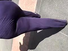 Big booty BBW redbone MILF in dark blue suit 3