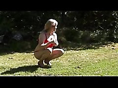 shy sissy outdoors caught by the neighbor