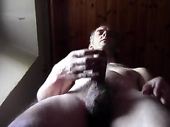 Hot dilf big cum with nude hairy body homemade amateur solo