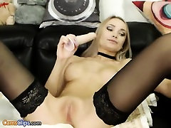 Ftv girl ally amazing blonde in black stockings toying pus