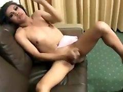 Sexy Asian Ladyboy sucking and jacking