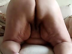 Supersized BBW grandma is masturbating