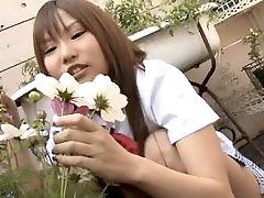 Cute japanese teen poses