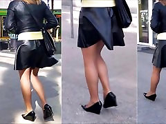 72 Woman with nice legs in mini skirt and pantyhose