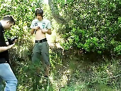 Two horny scout twinks outdoor blowjob session