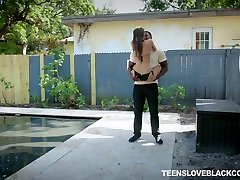 Easily picked up white bikini chick Tara Ashley gets pounded by black stud