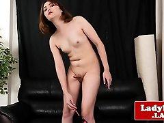 Thai ladyboy masturbates her hard cock