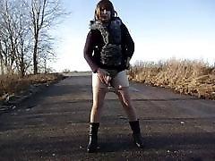 Crossdresser and street hooker outdoor gay Zhenya