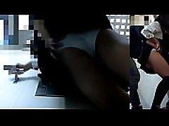 asian schoolgirl panty ass groping