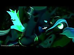 queen chrysalis fucked by her little one