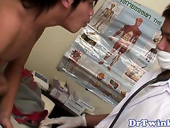Ethnic enemasquirting twinks asshole checked by doctor