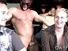 Sucking a huge stripper dick