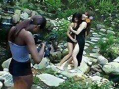 Steamy Interracial Lesbian Strapon Orgy