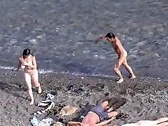 Nudists in the Crimea in 2011. Fox Bay.