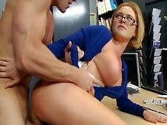 Krissy Lynn wants some cum on her glasses