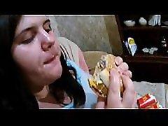 My hottest feeder. Make me fatter. Fat woman eats a lot. Part 2