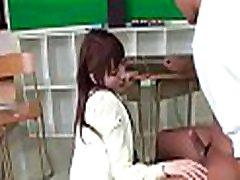 Rough sex for sexy oriental schoolgirl