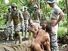Teen gay military masturbation Jungle screw fest