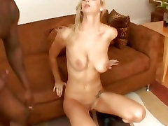Brooke Biggs sucks on a huge cock then proceeds to stick it in her pussy