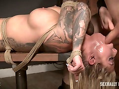 Brutal pounding from behind and breast bondage for busty Karma RX