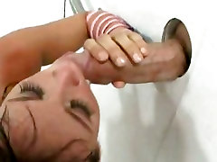 Tory Lane servicing a gloryhole and letting random guys use her mouth