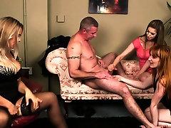 CFNM babes sharing hard dick