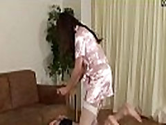 Japanese Femdom Risa mom and send sleeping sex Humiliation