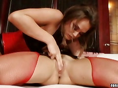 Tori Black and her girlfriend caress the clit