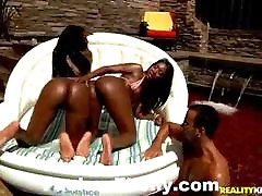 Awesome Ebony Chicks Oiled And Outdoor Fuck
