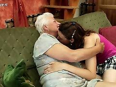 Old grandma on young lesbian girl