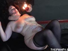 Burned excercising slavegirl bbw bdsm and extreme fetish