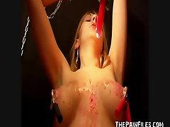 Teen blonde Susans bondage and nipple torture