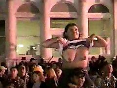 Girl flashing her big tits