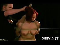 Obedient playgirl rough breast bondage xxx bdsm show