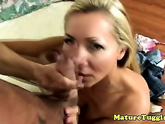 Amateur busty mature mommy jerking dick