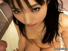 Hot Asian girl goes down on mans dick before getting cunt