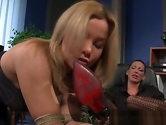Lesbian Femdoms Dildoing Pussies Of Sub Babes
