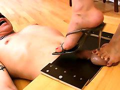 Foot teasing pussy rub hump four mom sharing bitch