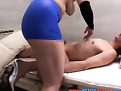 Bizarre Asian BBW domina plays with guys