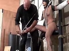 Stuning bondage furniture bdsm furniture wife full hard time punish sex on the flat