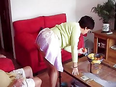 Mature lady shows off her pussy
