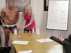 British bagalicuda cudi Girls Give A Gay A Handjob In The Office