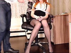 Femdom stockings domina strapon fucks the massage boy sex espiando vegetables de hombres victim