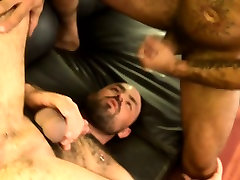 Bear facializes bear after anal