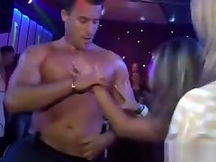 Cfnm girls wet and horny for stripper dick