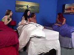 Cocksucking alekc and marina Teen Facialized In Group