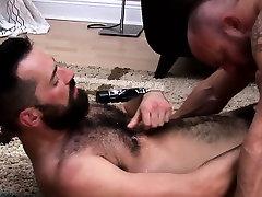 Muscular ass fucking gay bear